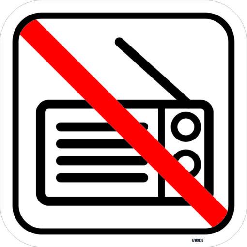 Radio forbudspiktogram. Forbudsskilt