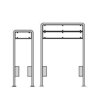 Lav galge til 16 cm høje tavler