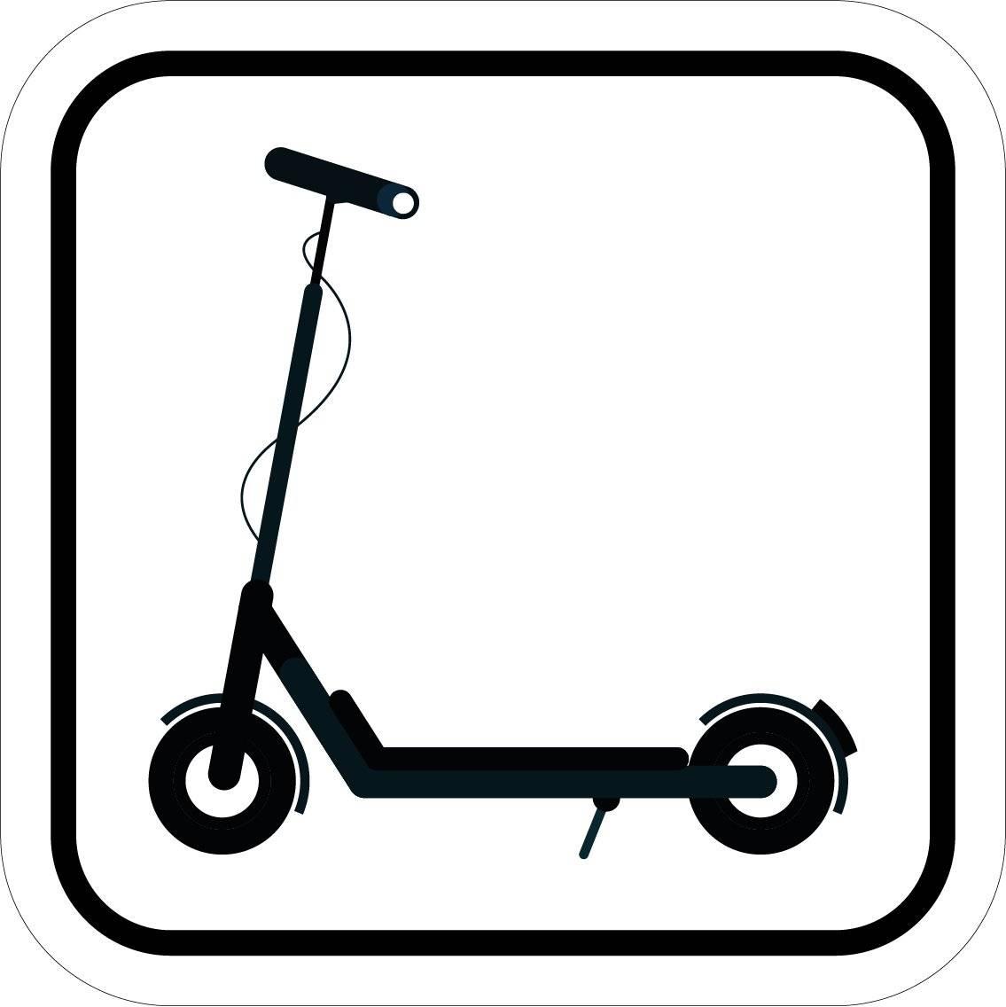 Elektrisk Løbehjul piktogram skilt