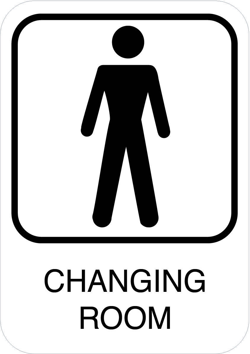 Changing room. Mand. Toiletskilt