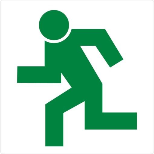 Exit grøn mand skilt