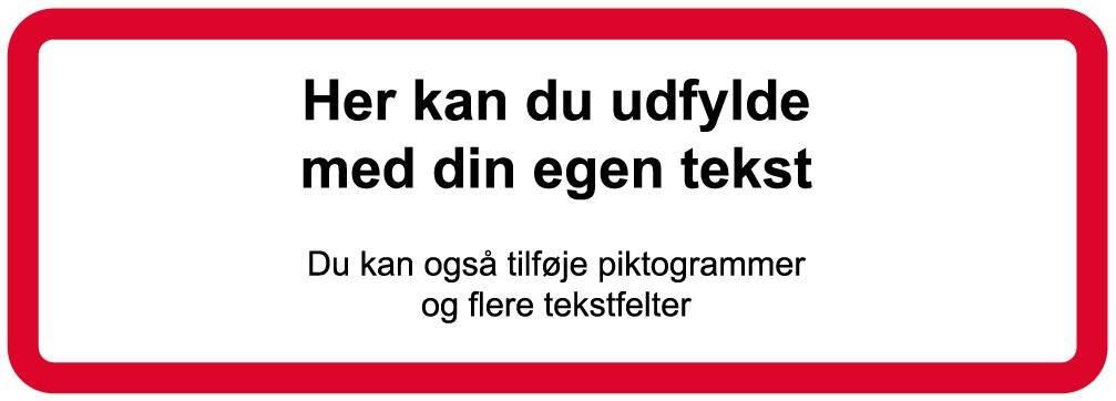 Forbudsskilt - rød ramme