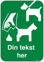 Hundeskilt - Hund i snor lort i pose