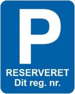 Parkeringsskilt - Reserveret til blå
