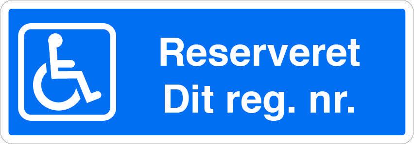 Handicapskilt reserveret parkering