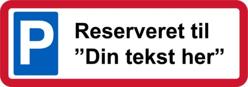 Reserveret med egen tekst