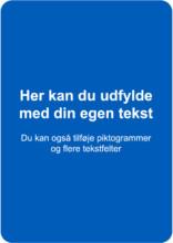 Blåt skilt - A format
