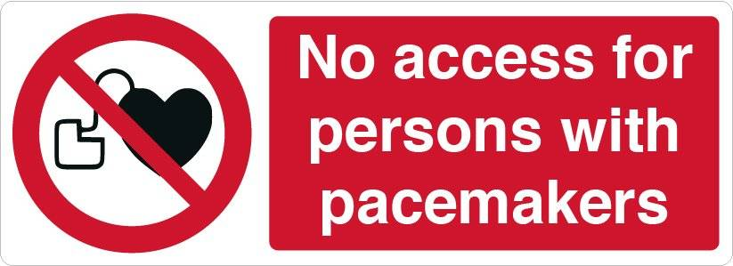 Forbudsskilt - No access for persons with pacemakers