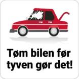 Tøm bilen før tyven skilt