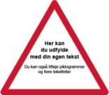 Advarselsskilt - Rød ramme