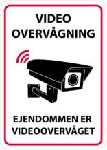 Video overvågning - Ejendommen er videoovervåget skilt