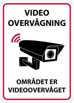 Video overvågning - Området er videoovervåget skilt