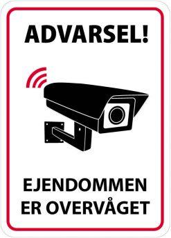 Advarsel - Ejendommen er overvåget skilt