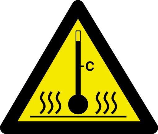 Advarselsskilt - Høj temperatur