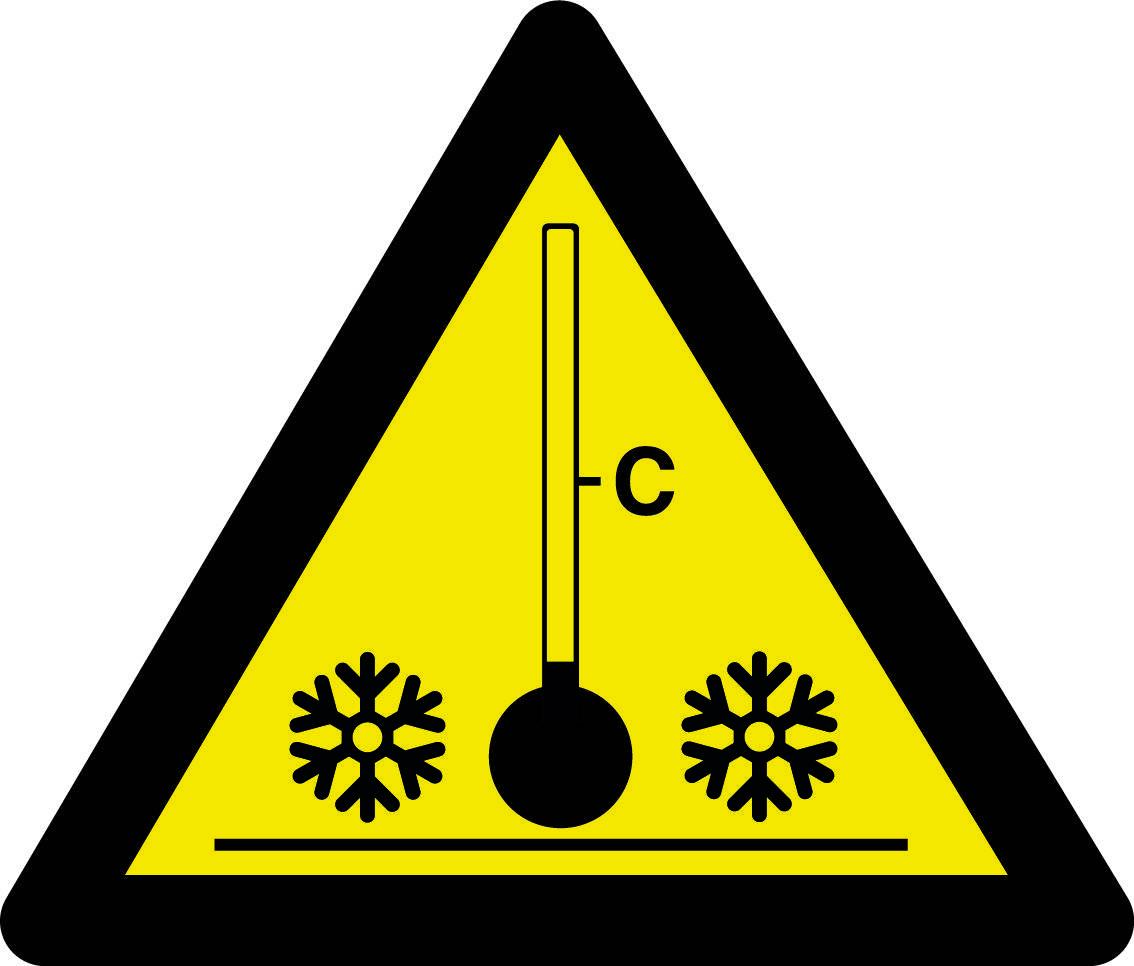Advarselsskilt - Lav temperatur