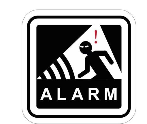 Alarm skilt - Tyverisikring