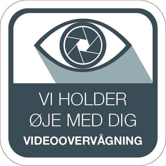 Videoovervågningsskilt - Vi holder øje med dig videoovervågning