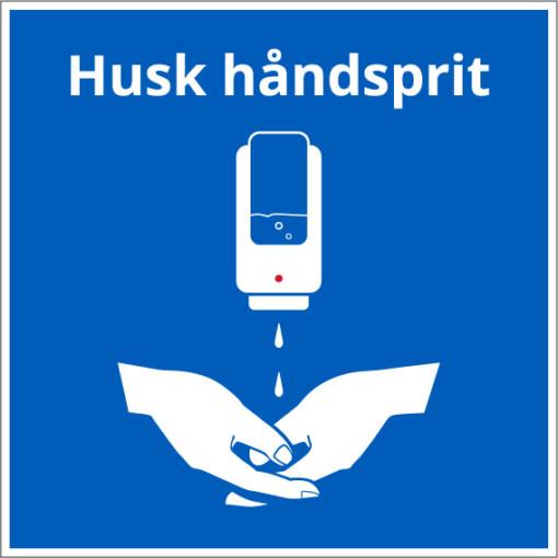 Husk håndsprit - vægdispenser skilt