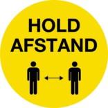 Sikkerhedsskilt - Hold afstand