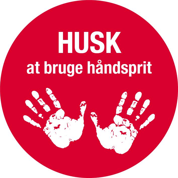 Håndsprit - Husk at bruge håndsprit skilt