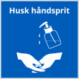 Husk håndsprit - Pumpe dispenser skilt