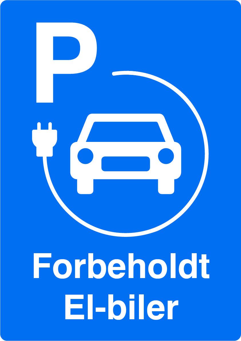 P skilt elbil - Forbeholdt elbiler