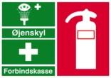 Redningsskilt - Øjenskyl Forbindskasse Brandslukker