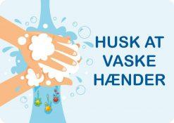 Husk at vaske hænder - børn skilt