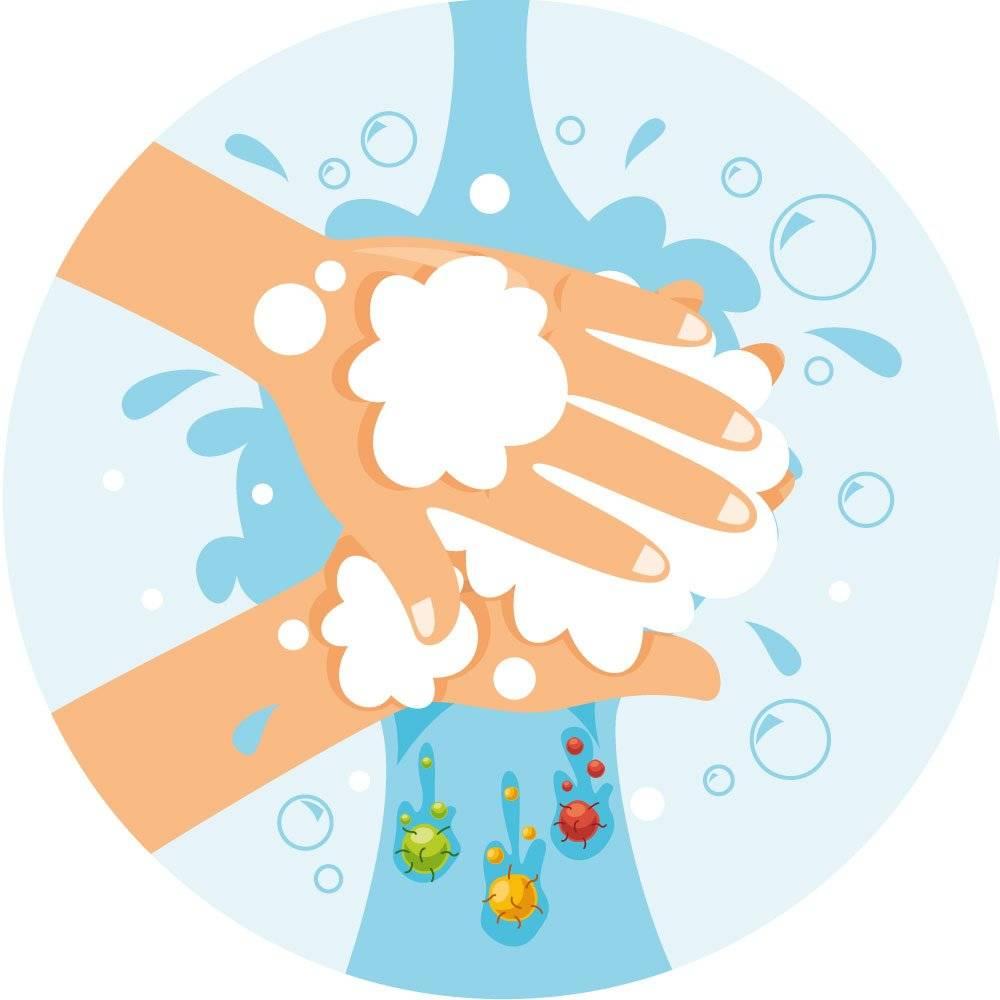 Vask hænder - børn skilt