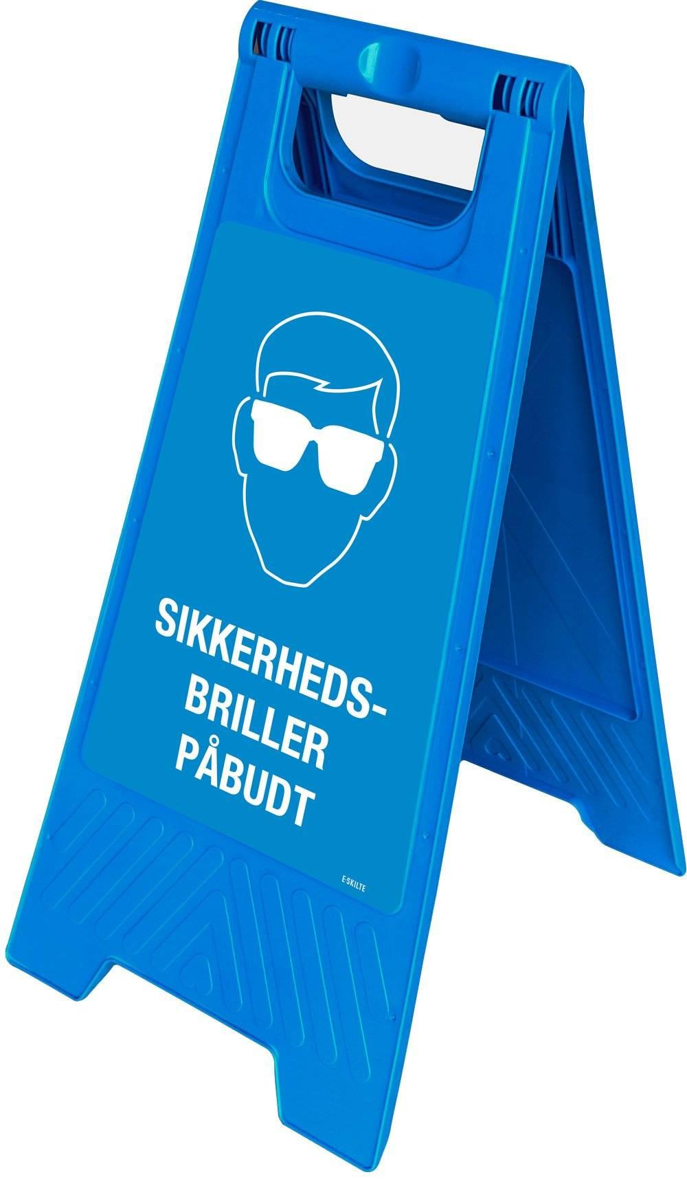 Gulvskilt - Sikkerhedsbriller påbudt
