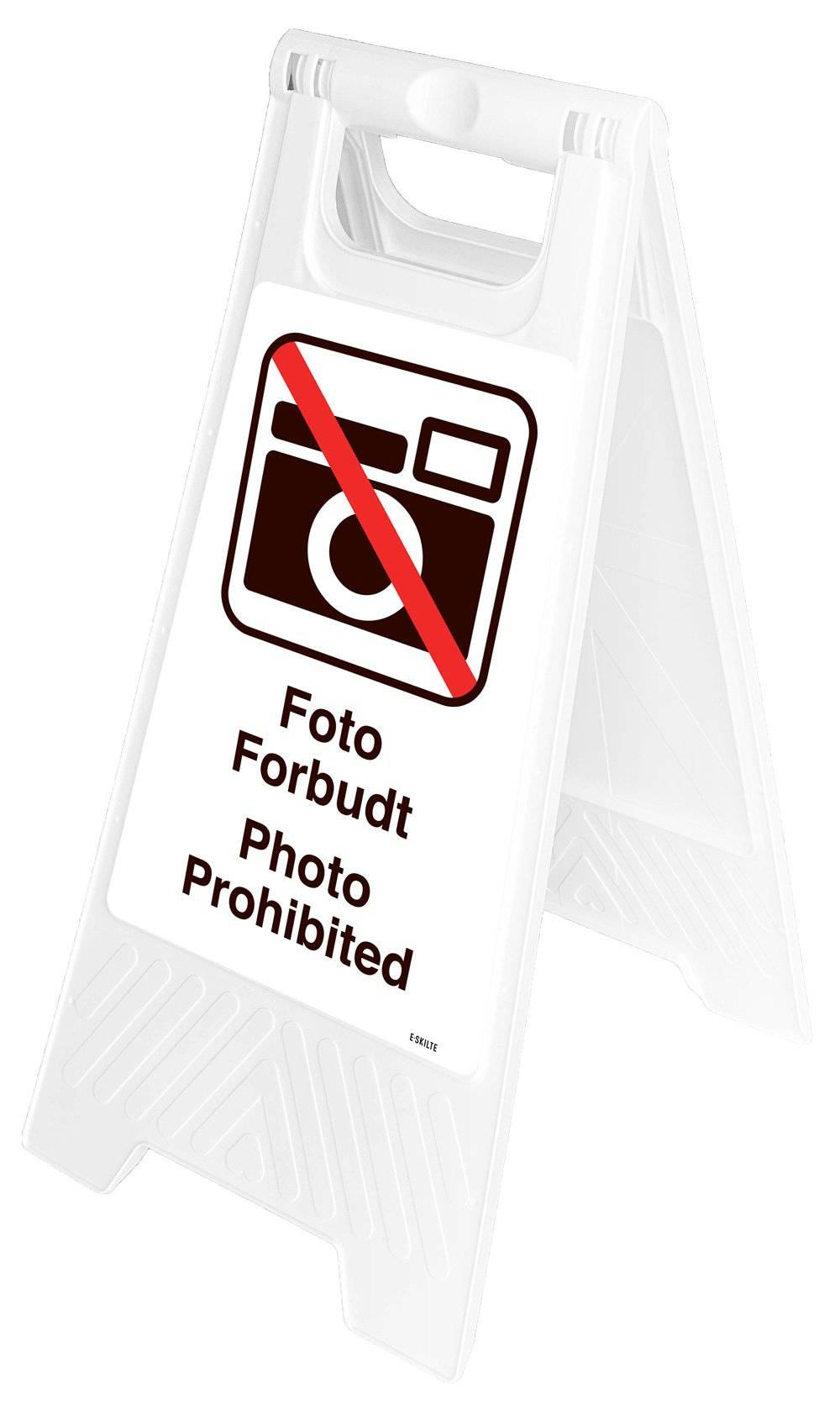 Gulvskilt - Foto forbudt Photo Prohibited
