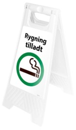 Gulvskilt - Rygning tilladt