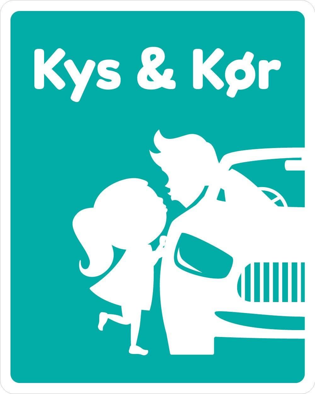 Afsætnings/afhentnings skilt - Kys og kør