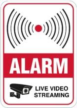 Alarm - Live video streaming skilt