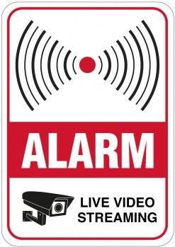 Alarm - Live video streaming skilt