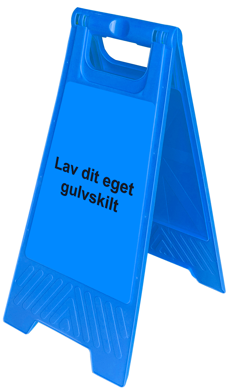 Gulvskilt - Blå