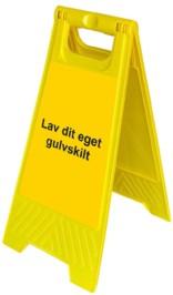 Gulvskilt -Gul