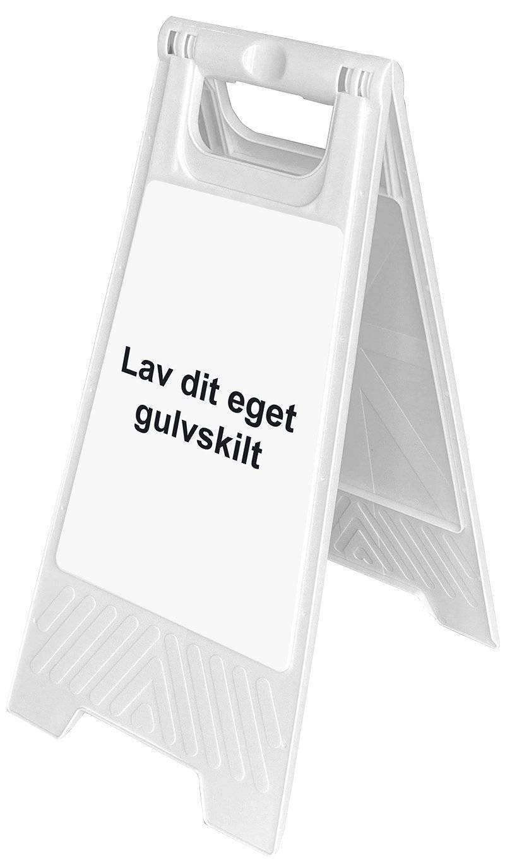 Gulvskilt - Hvid
