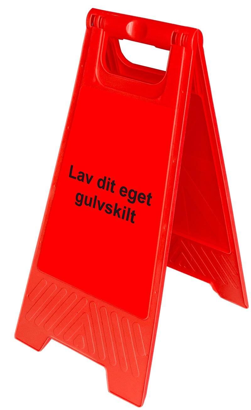 Gulvskilt - Rød