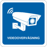 Videoovervågning piktogram Blå skilt