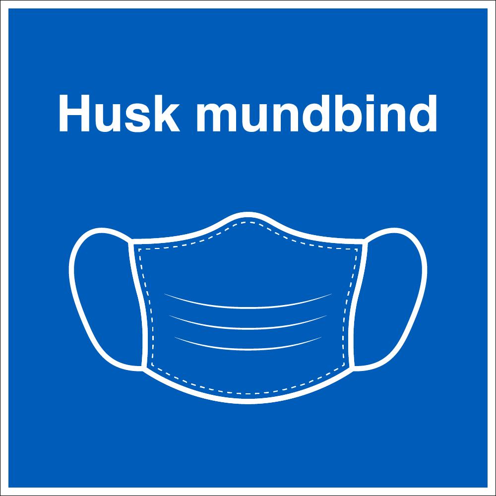 Husk mundbind skilt - Mundbind pictogram • E-skilte