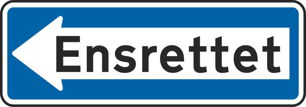 Ensrettet til venstre