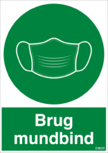 Brug mundbind, grøn