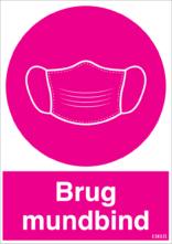Brug mundbind, pink