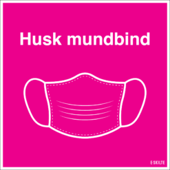 Husk mundbind skilt, pink