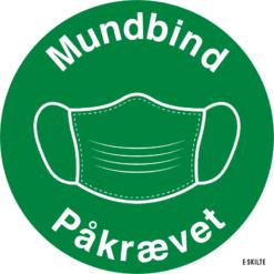 Mundbind skilte (Grønne)