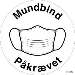 Mundbind skilte (Hvide)