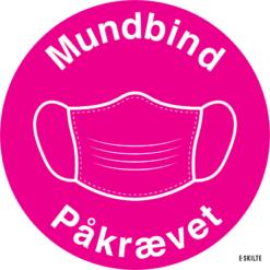 Mundbind skilte (Pink)