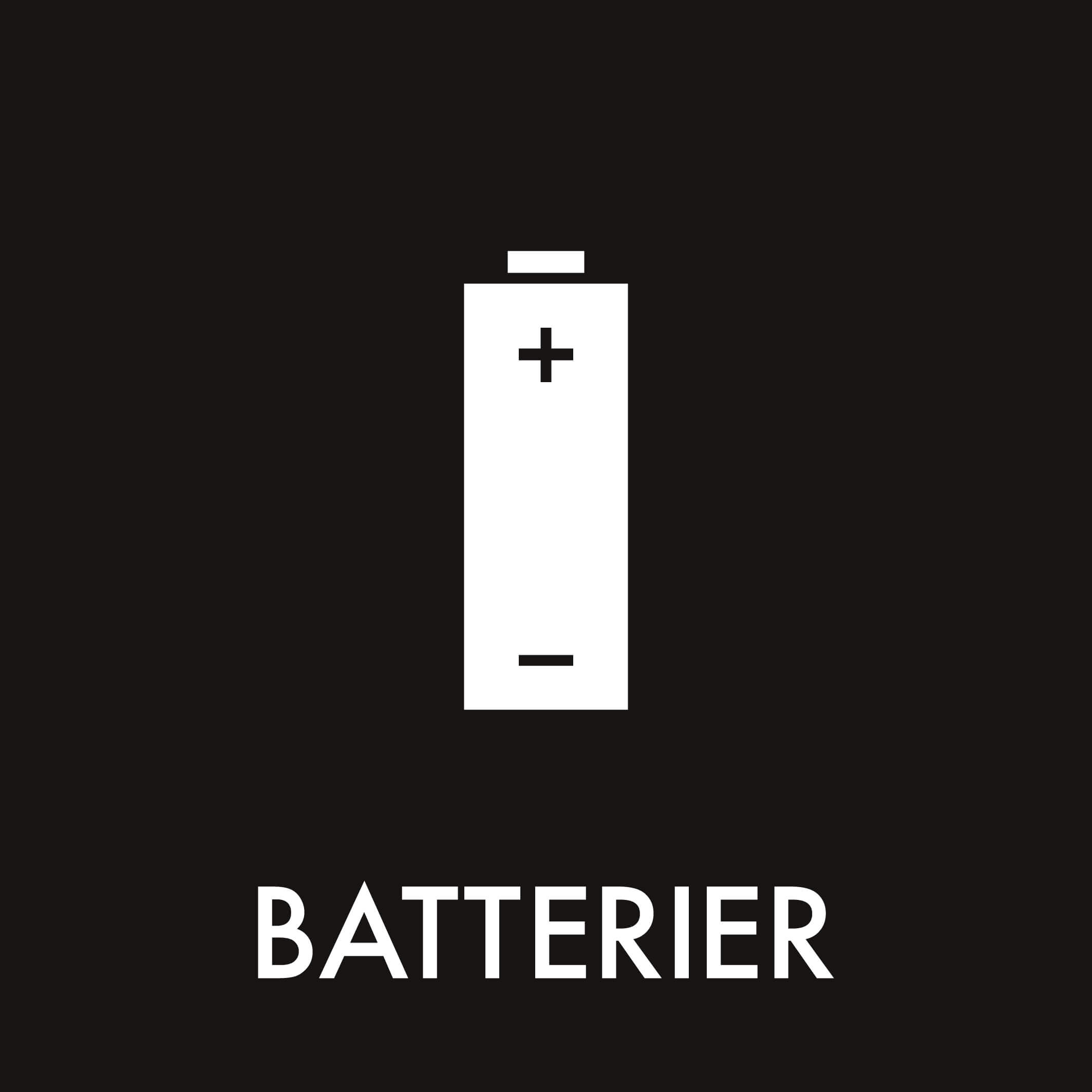 Dansk Affaldssortering - Batterier sort