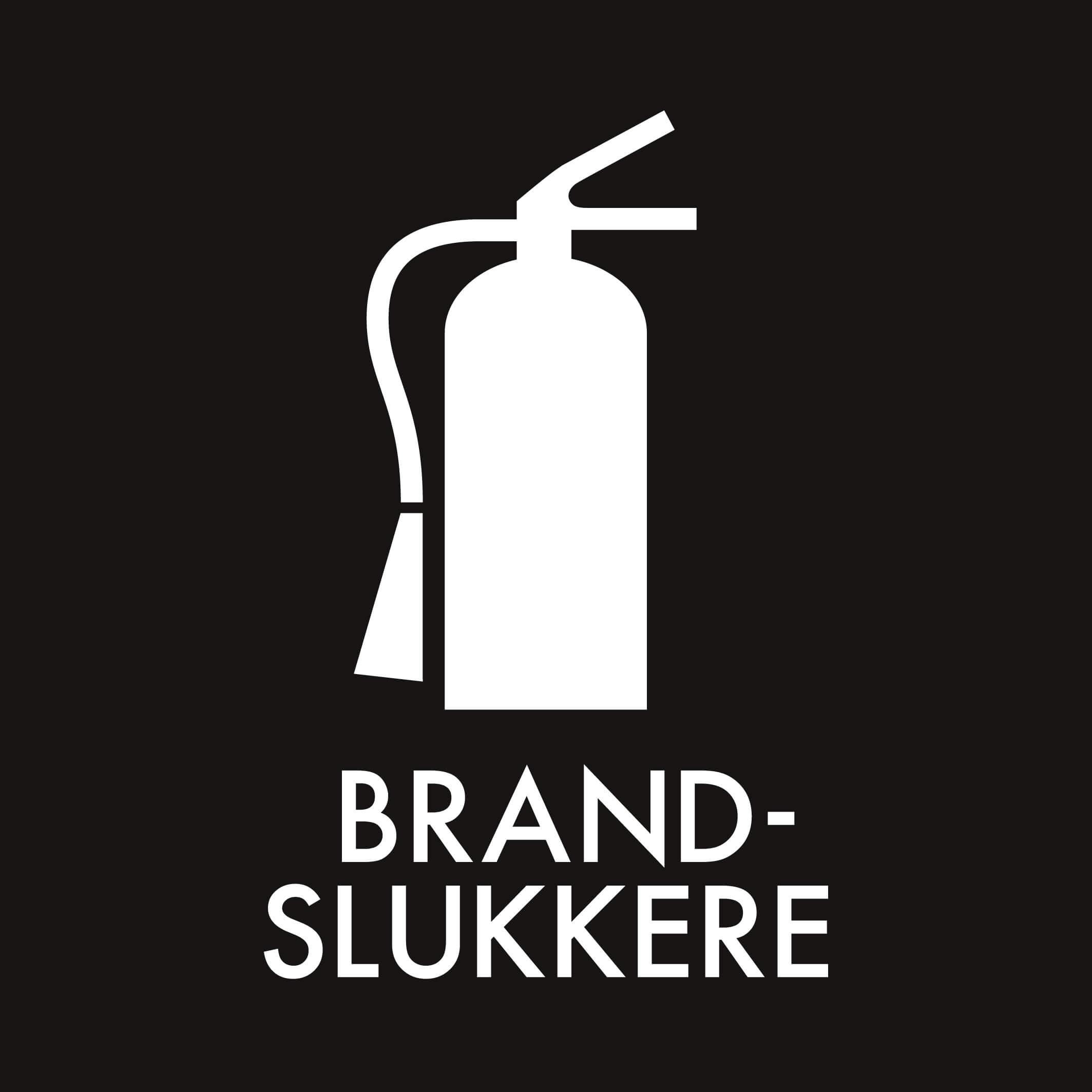 Dansk Affaldssortering - Brandslukkere sort